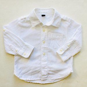 Baby Gap White Linen Dress Shirt